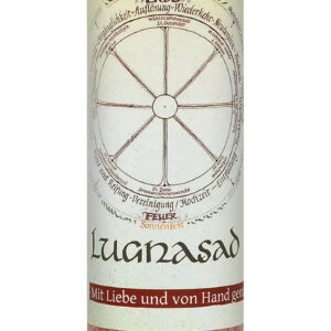 Allgäuer Heilkräuter Kerze – Lugnasad (Jahresrad)