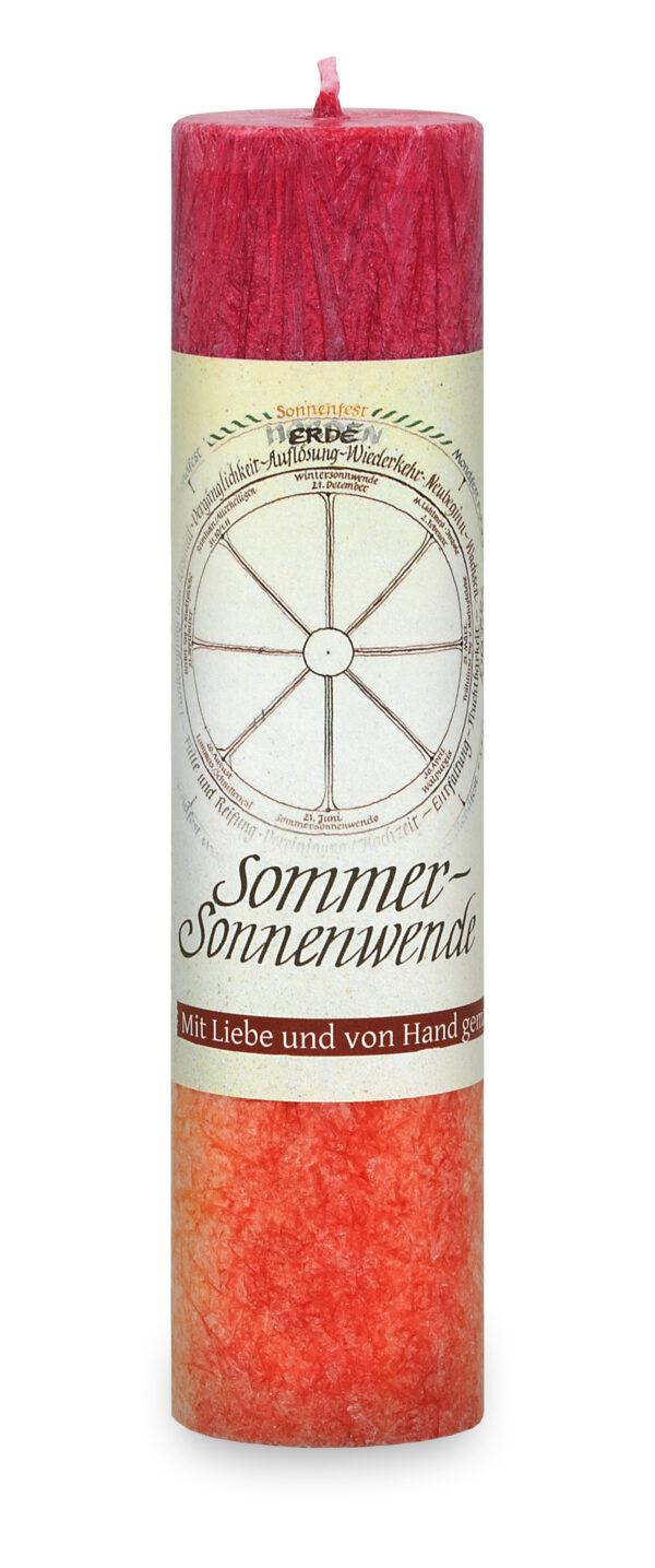 Allgäuer Heilkräuter Kerze – Sommersonnenwende (Jahresrad)