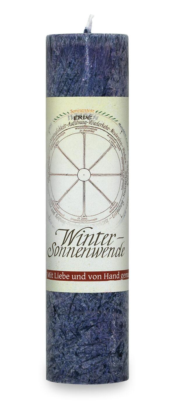 Allgäuer Heilkräuter Kerze – Wintersonnenwende (Jahresrad)