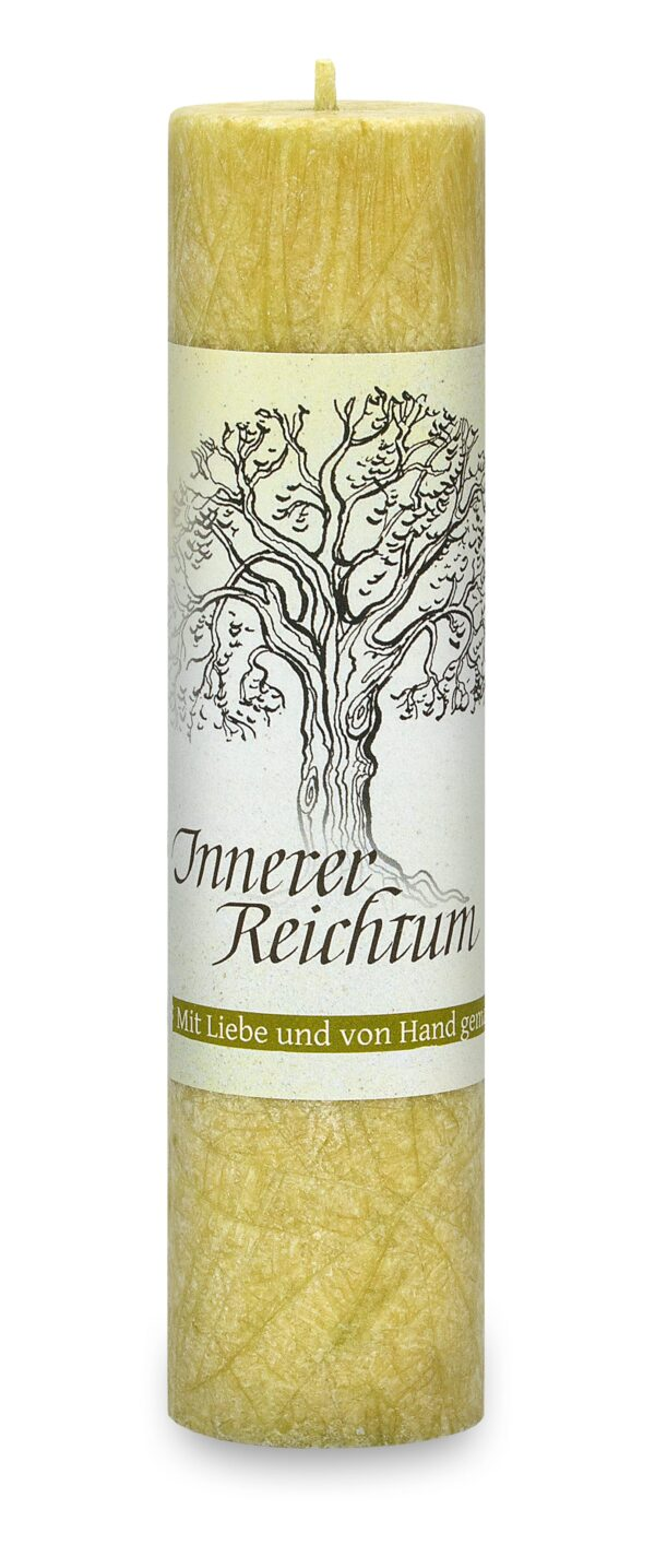 Allgäuer Heilkräuter-Kerze – Innerer Reichtum (Geist der Bäume)