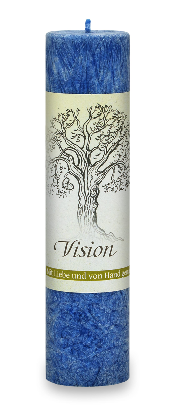 Allgäuer Heilkräuter-Kerze – Vision (Geist der Bäume)
