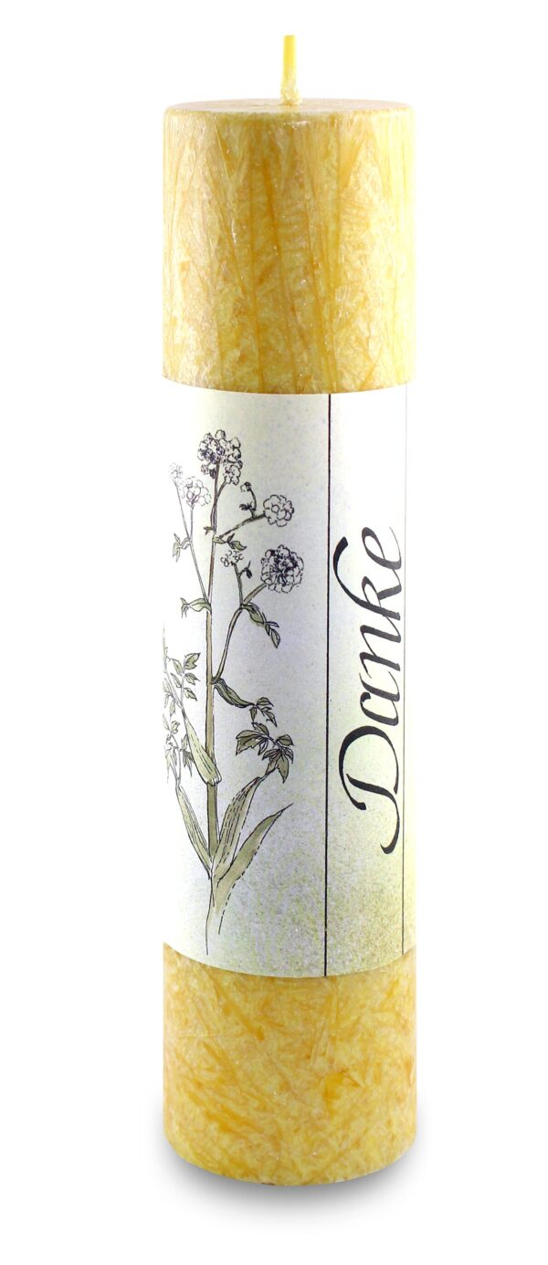 Allgäuer Heilkräuter-Kerze – Danke (Lebensthemen)