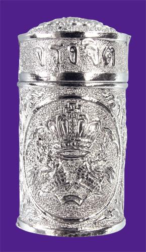 Kräuter-Riechflächschen im Zinkbehälter