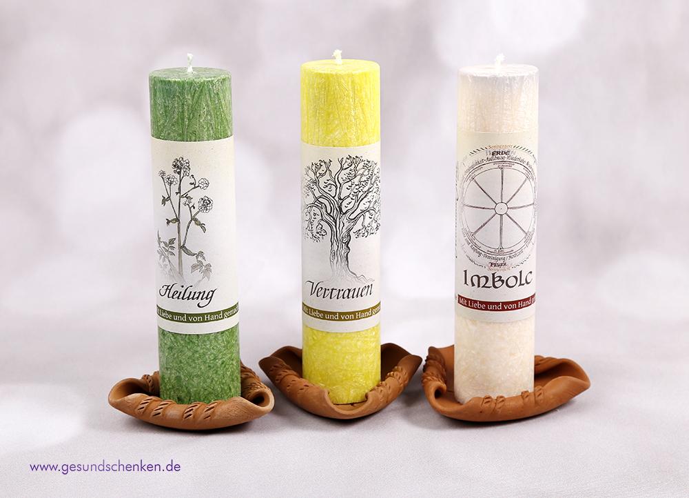 Kerzenständer für Allgäuer Heilkräuter Kerzen aus Ton